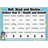 Roll, Read and Review -  Science Year 2:Primary Classroom Resources
