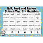 Roll, Read and Review -  Science Year 3