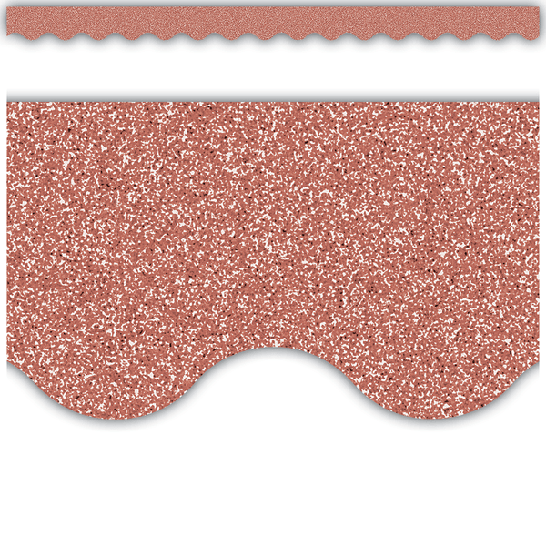 Rose Gold Glitz Scalloped Display Border:Primary Classroom Resources