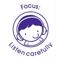 Self Inking Stamper - Focus: Listen carefully:Primary Classroom Resources