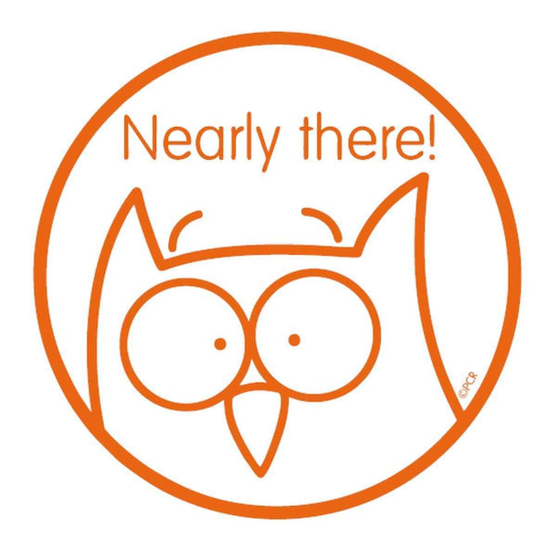 Self Inking Stamper - Owl - Nearly there!:Primary Classroom Resources