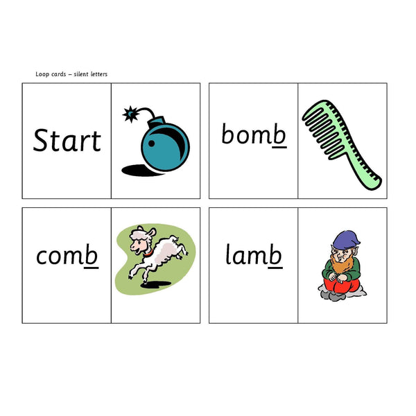 Silent Letter Loop Cards:Primary Classroom Resources