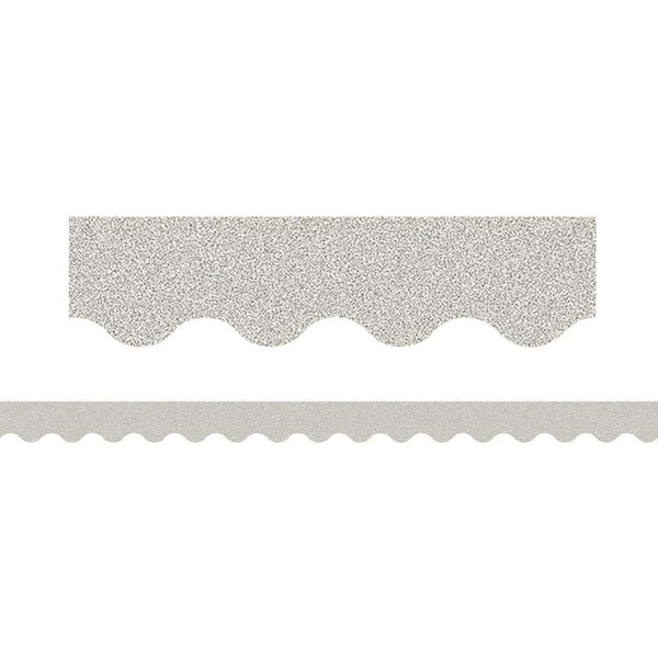 Silver Glitz Scalloped Classroom Display Border:Primary Classroom Resources