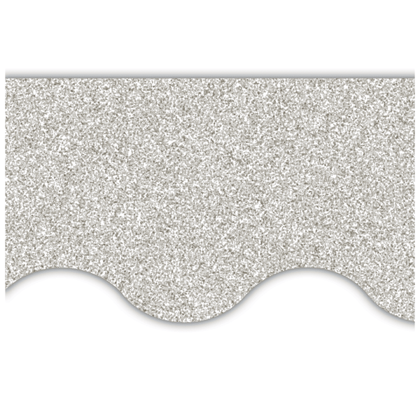 Silver Glitz Scalloped Display Border:Primary Classroom Resources