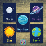Simple Solar System Posters
