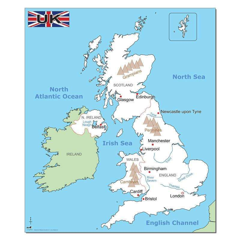 Simple Map Of England.Simple Uk Map