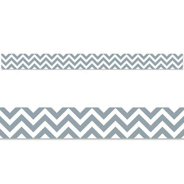 Slate Grey Chevron Display Border
