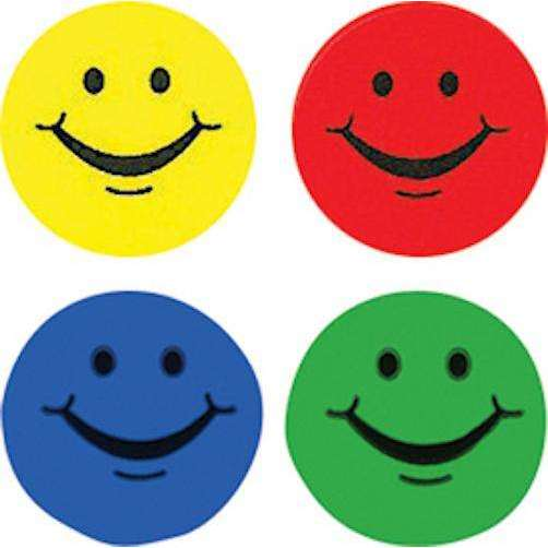 Smiling Faces Hot Spots Chart Seal Stickers