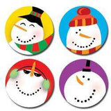 Snowmen Hot Spots Stickers:Primary Classroom Resources