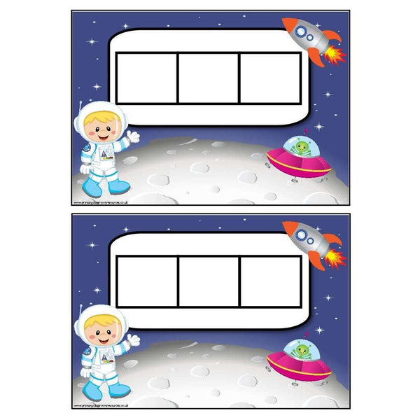 Space Themed Phoneme Frames