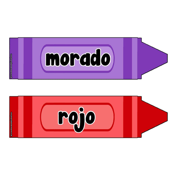 Spanish Coloured Crayons Poster Pack:Primary Classroom Resources