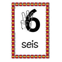 Spanish Numbers 0 - 10 Cards:Primary Classroom Resources