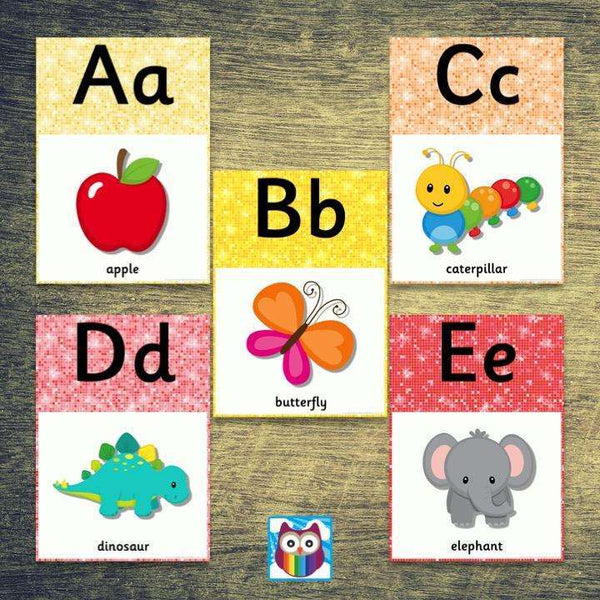 Sparkle Themed Alphabet Posters:Primary Classroom Resources