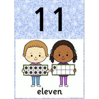 Sparkle Themed Number Posters 0 - 20:Primary Classroom Resources