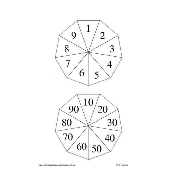 Spinner Templates:Primary Classroom Resources