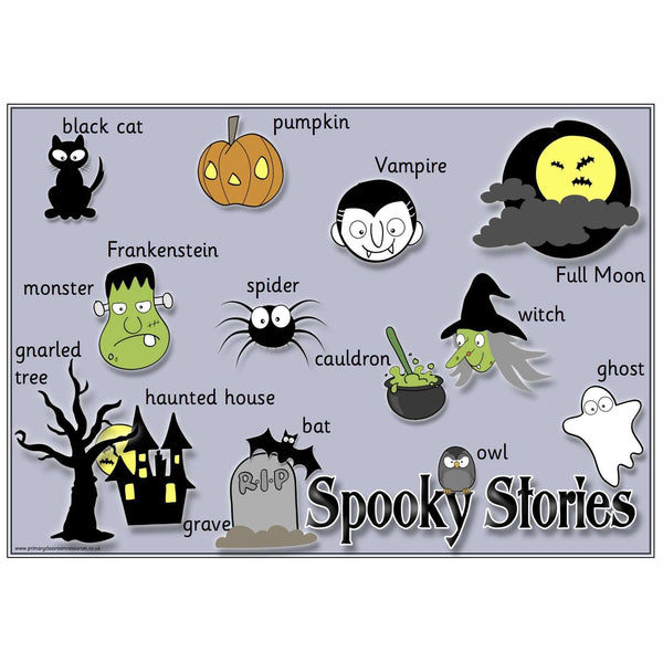 Spooky Stories Vocabulary Mat:Primary Classroom Resources
