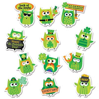 St Patricks Day Owl Stickers:Primary Classroom Resources