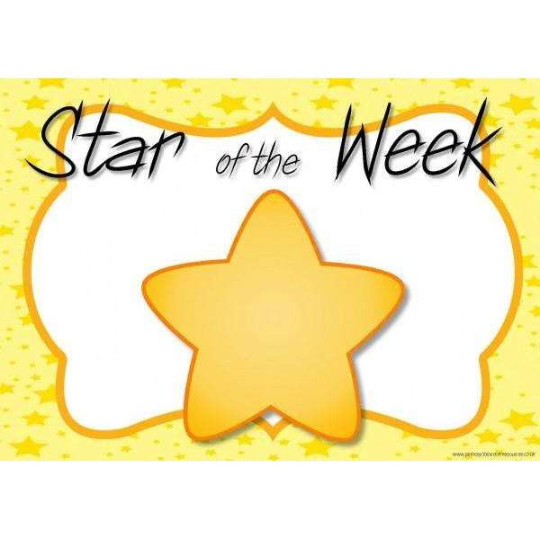 Star of the Week Header Signs