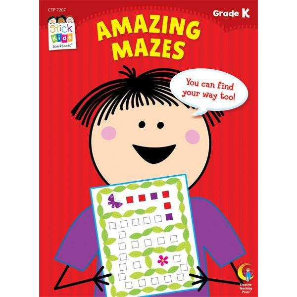 Stick Kids Workbook - Amazing Mazes - Grade K - (Age 5)