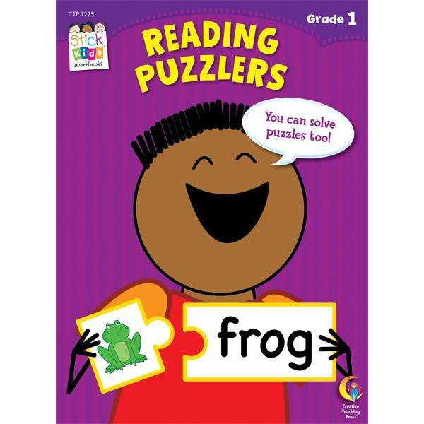 Stick Kids Workbook - Reading Puzzlers - Grade 1 - (Age 6-7)