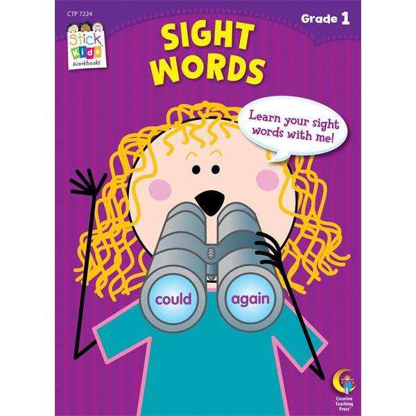 Stick Kids Workbook - Sight Words - Grade 1 - (Age 6-7)