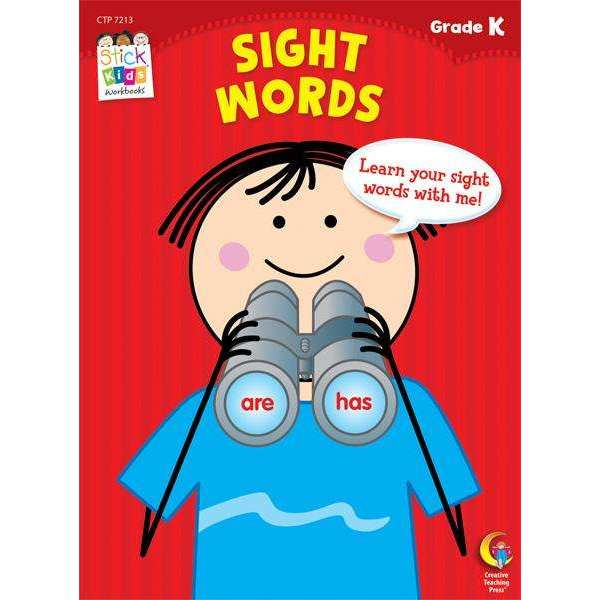 Stick Kids Workbook - Sight Words - Grade K - (Age 5)