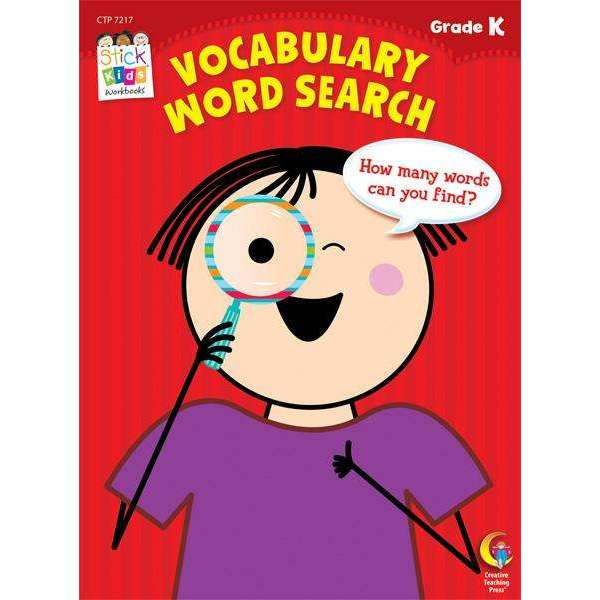 Stick Kids Workbook - Vocabulary Word Search - Grade K - (Age 5):Primary Classroom Resources