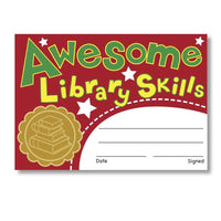 Sticky Certificates - Awesome Library Skills:Primary Classroom Resources