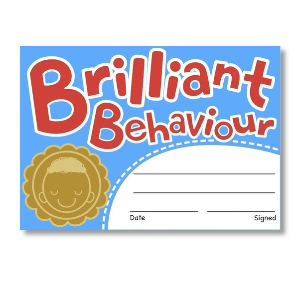 Sticky Certificates - Brilliant Behaviour