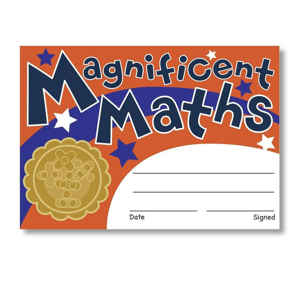 Sticky Certificates - Magnificent Maths:Primary Classroom Resources