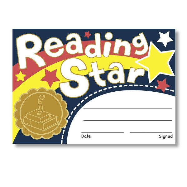 Sticky Certificates - Reading Star:Primary Classroom Resources