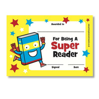 Sticky Certificates - Super Reader:Primary Classroom Resources