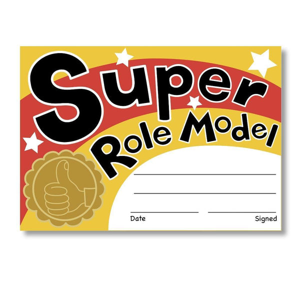 Sticky Certificates - Super Role Model:Primary Classroom Resources
