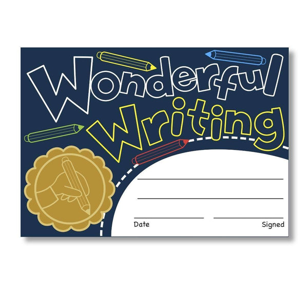 Sticky Certificates - Wonderful Writing