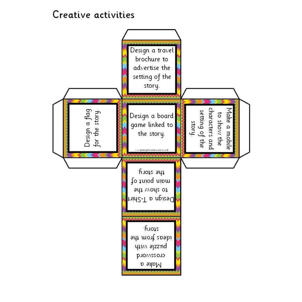 Story Reading Response Activity Cubes