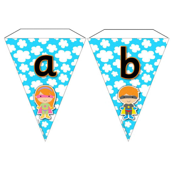 Superhero Letters and Sounds Phase 2 Bunting:Primary Classroom Resources