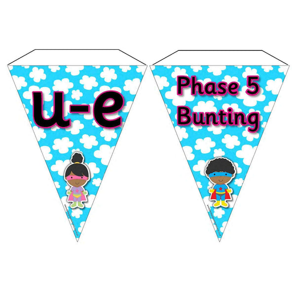 Superhero Letters and Sounds Phase 5 Bunting:Primary Classroom Resources