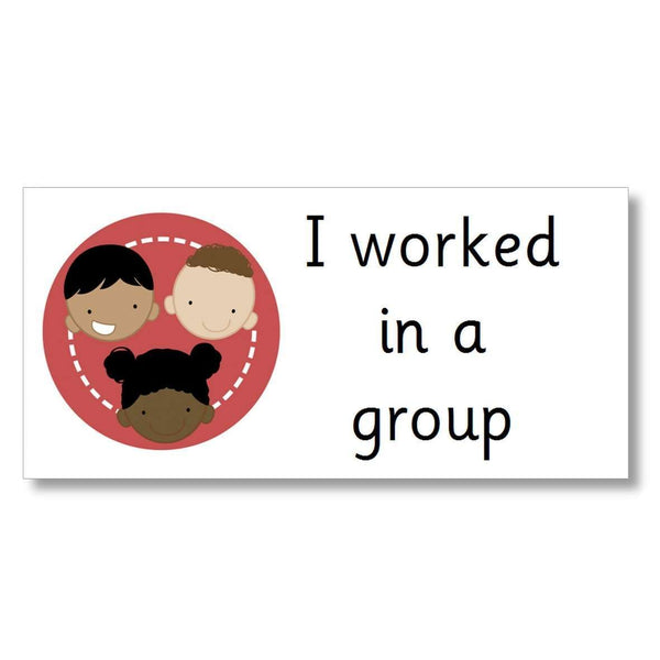 Support Marking Stickers - I worked in a group