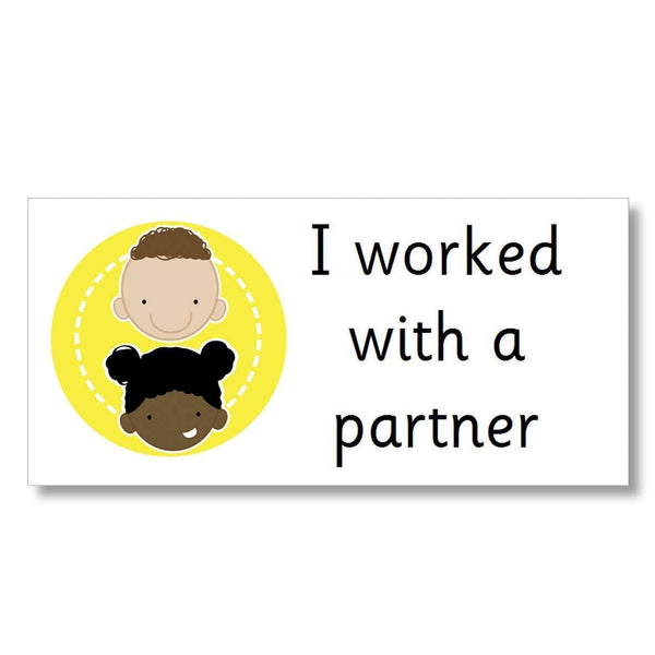 Support Marking Stickers - I worked with a partner