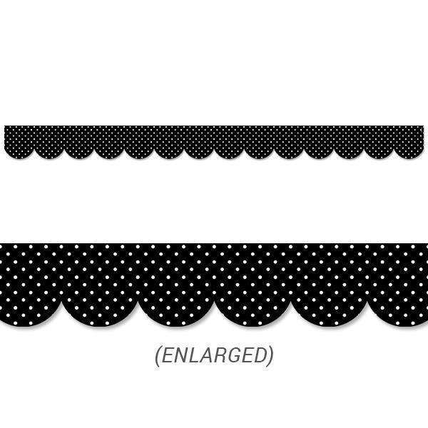 Swiss Dots Black & White Polka Dots Bold & Bright Border:Primary Classroom Resources
