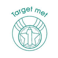 Target met - Self Inking Teacher Stamper:Primary Classroom Resources