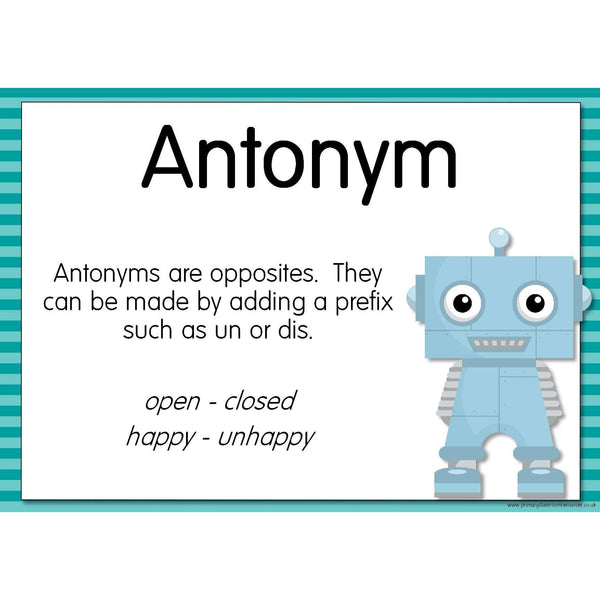 The GrammarBots - Word Categories:Primary Classroom Resources