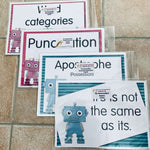 The GrammarBots Grammar Resource Pack:Primary Classroom Resources