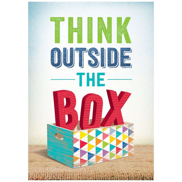 Think outside the box! - Inspire U Poster:Primary Classroom Resources