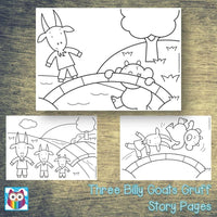 Three Billy Goats Gruff Story Pages:Primary Classroom Resources