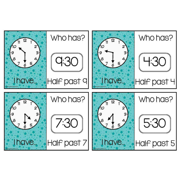 Time Loop Cards - Half Past:Primary Classroom Resources