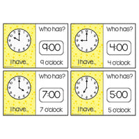 Time Loop Cards - O'Clock:Primary Classroom Resources