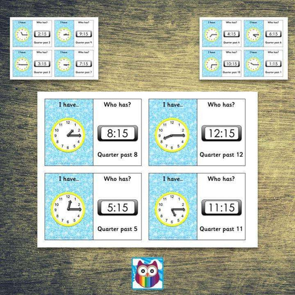 Time Loop Cards - Quarter Past