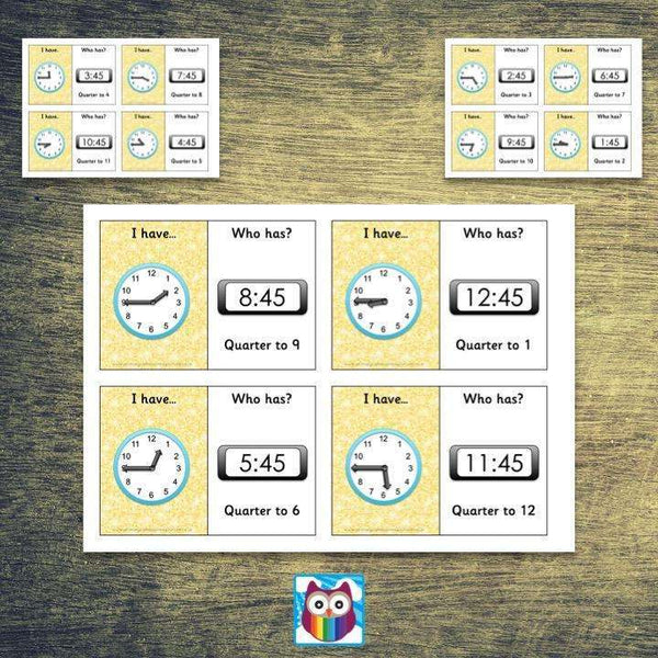 Time Loop Cards - Quarter To:Primary Classroom Resources