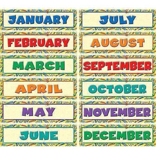 Tools for School Monthly Headliners Mini Display Set:Primary Classroom Resources